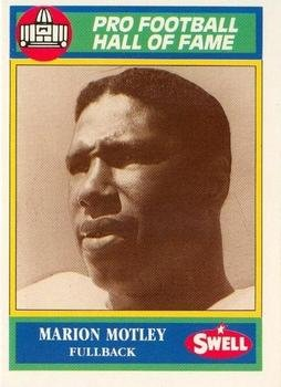 Marion Motley football card (Cleveland Browns) 1990 Swell #59 Hall of Fame