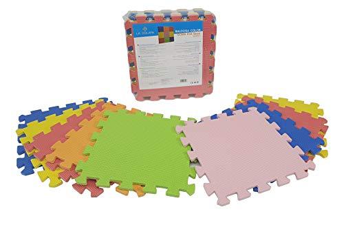 Alfombra Infantil De Espuma – Colchoneta Puzzle - Goma Eva - 30x30cm - 9 PZAS (Colores)