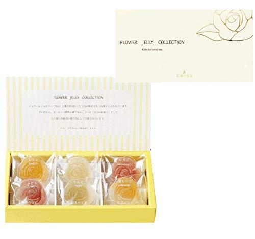 彩果の宝石 フルーツゼリーコレクション (フラワー6個入り) 国産もち米あられ1個セット