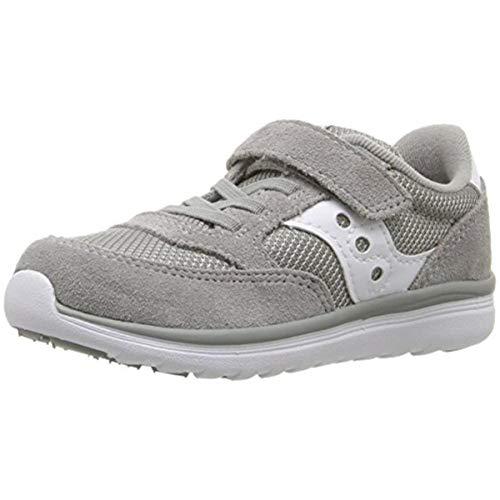 Saucony Baby Jazz Lite Sneaker (Toddler/Little Kid/Big Kid), Grey/White, 10 M US Toddler