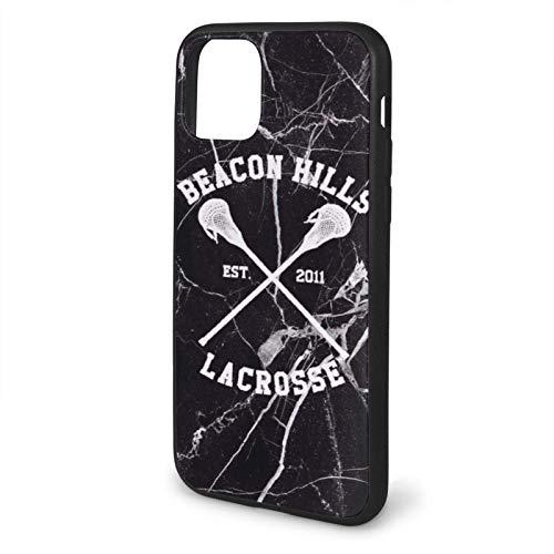 MCATCA Compatibile con iPhone 6 6s 7 Plus 8 Plus X XS XR 11 PRO Max SE 12 PRO Max Custodie Beacon Hills Lacrosse - Teen Wolf Black Custodie per Telefoni Cover