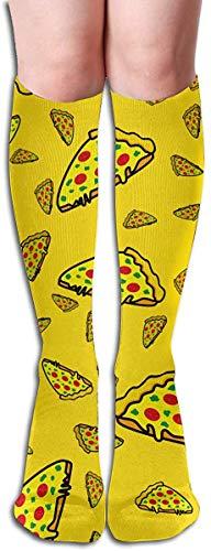 Italienische Pizza, Tomaten Fashion Pizza Gelbe Kompressionsstrümpfe Damen & Herren 15-20 mmHg Kompressionsstrümpfe Ideal für Laufen, Medizin, Reisen
