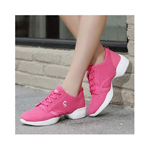 Zapatos de Hombre Zapatillas Deportivas Zapatillas de Deporte Absorbentes Casuales para Caminar Gimnasio Correr Fitness,Pink-34 EU