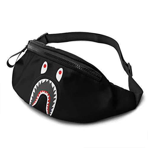 Officeking Movie Bape - Riñonera con forma de tiburón en sangre, para mujer, con auriculares, para entrenamiento, senderismo, viajes, entrenamiento al aire libre