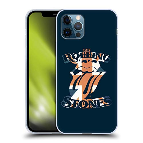Head Case Designs Oficial The Rolling Stones Lengua Union Jack Gráficos Carcasa de Gel de Silicona Compatible con Apple iPhone 12 / iPhone 12 Pro