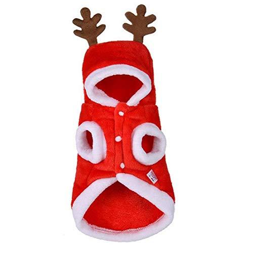 Uayasily Partido Perro De Santa Navidad del Traje De Perrito Suter De Invierno Vestirse Traje para Mascotas Accesorios S