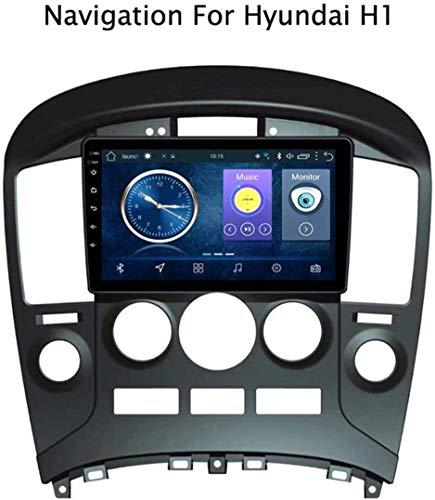 GLFDYC Android 8.1 GPS Navigation Radio TV, 9 Zoll Full Touch Screen Bildschirm Autoradio, für Hyundai H1 2015-2018, mit DAB CD DVD Lenkradkontrolle Bluetooth USB AUX Mirror Link,4G+WiFi:2+32G