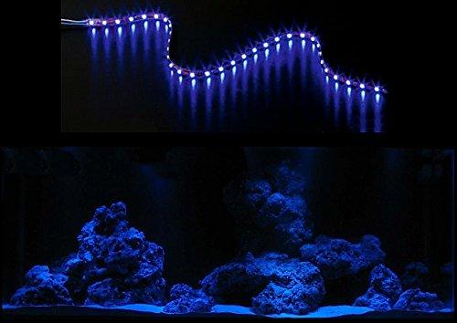creative lights AQUARIUM MONDLICHT, LED LICHTLEISTE 60 CM + DIMMER KOMPLETTSET FLEXI-SLIM BLAU