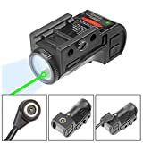 Lasercross CL105 New Magnetic Charging Internal Green Laser Sight & Flashlight Laser Combo with Rechargeable Battery Inside,Used for Most of Handguns and Rifles in Picatinny Rails