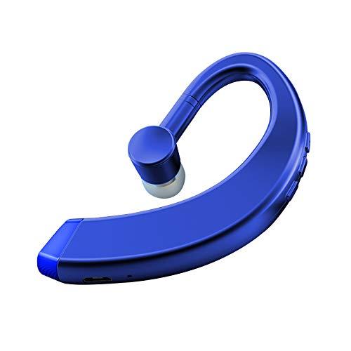 Audífonos colgantes de estilo empresarial, inalámbricos para hombre de negocios, modernos y giratorios universales Bluetooth 5.0, auriculares únicos impermeables para hombres y mujeres