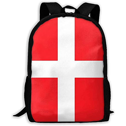 Bolsa para La Escuela,Mochila Escolar,Bolsa De Viaje,Bandera Danesa De Dinamarca para Adultos/Adolescentes,Mochila De Negocios para Computadora Portátil,Mochila Escolar para Estudiantes