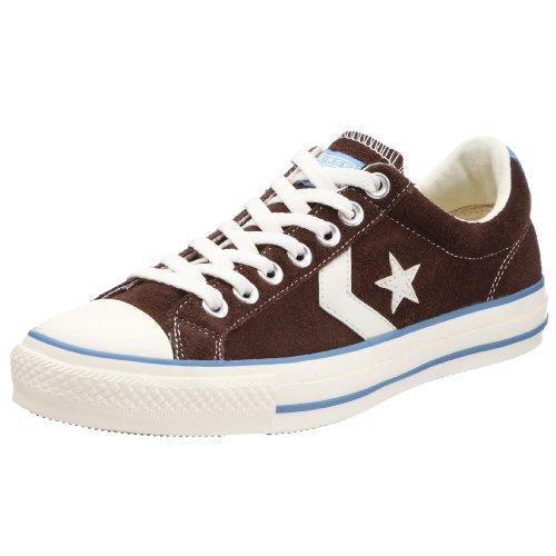 Converse - Zapatillas de Cuero Unisex, Color marrón, Talla 38