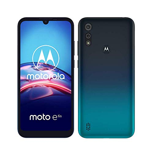 Motorola Moto E6S, Display MaxVision 6,1', Processore Octa-Core, Doppia Fotocamera 13 MP, Batteria 3000 mAH, Dual SIM, 2/32GB, Android 9, Cover Inclusa, Meteor Grey