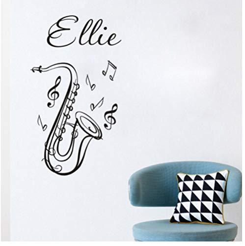 Cartoon Saxofoon en muziek stickers voor kinderkamer wandsticker decoratie woonkamer Home Decoration