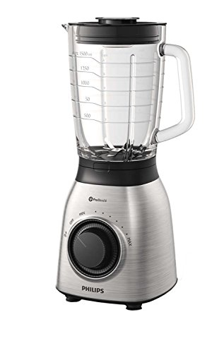 Philips Standmixer HR3555/00 Mixer, Kunststoff, 2 liters, Schwarz, Transparent