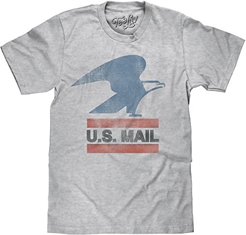U.S. Mail Eagle Logo   Soft Touch Tee-Large  Heather Grey