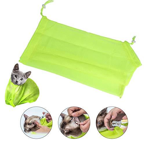 Xinapy Katzen-Pflegetasche, zum Baden und Duschen, Netztasche, verstellbar, für Hunde und Katzen, zur Fellpflege von Nägeln