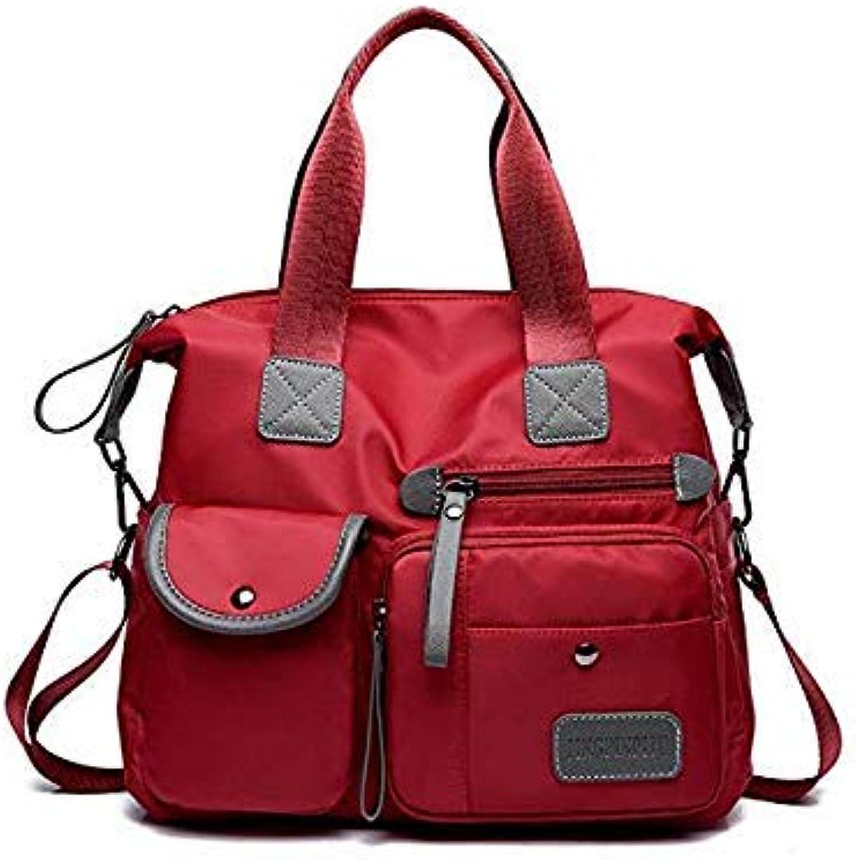 Oxford Fashion Designer Women Crossbody Bags Female Handbags Portable Shoulder Bag Office Ladies hobos Messenger Bag Tote Red