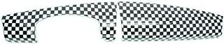 Heinmo for Mini Cooper F55 F56 car Styling Instrument Union Jack Stickers Dash Board Trim Panel Cover Decoration PC (Grid)