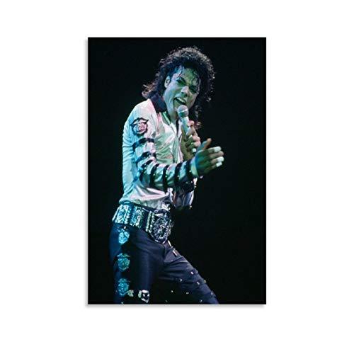 xingqisi Póster de King of Dance Michael Jackson Bad World Tour HD sobre lienzo y arte de pared, diseño moderno de Michael Jackson