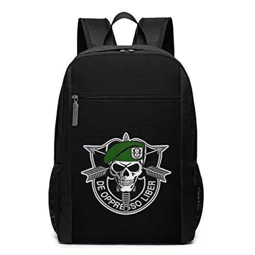 JUKIL Green Beret Logos Utra-Premium Mochila para portátil de Viaje de 17 Pulgadas, Bookbag, Business Bag