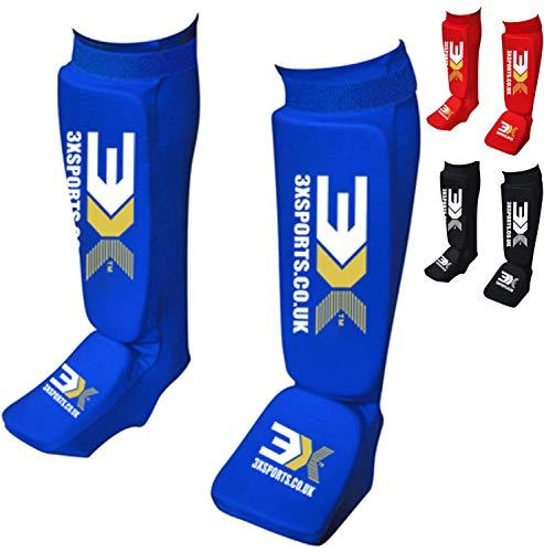 3X Sports Schienbeinschutz MMA Beinpolster Schutzausrüstung Thaiboxen UFC MMA Training Kickboxen