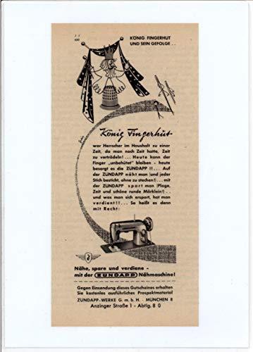 Zündapp - Nähmaschine - Werbung - 1954-21x 15cm (A5)