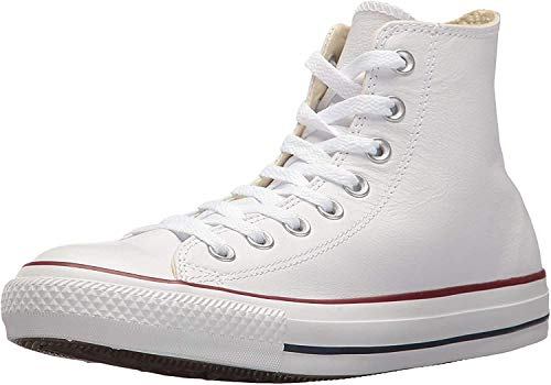Converse Chuck Taylor All Star Leather High Top Sneaker, white, 12 Women/10 Men