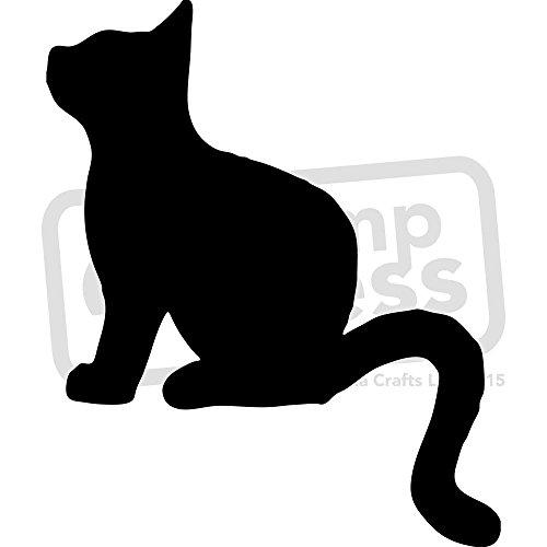 Stamp Press A5 'Katzen-Silhouette' Wandschablone / Vorlage (WS00003066)