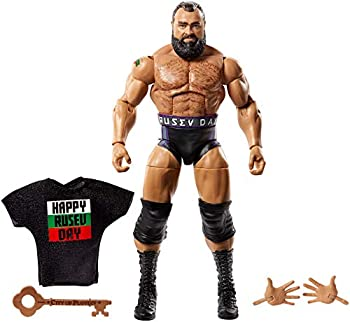 WWE Rusev Elite Collection Deluxe Action Figure with Realistic Facial Detailing Iconic Ring Gear & Accessories