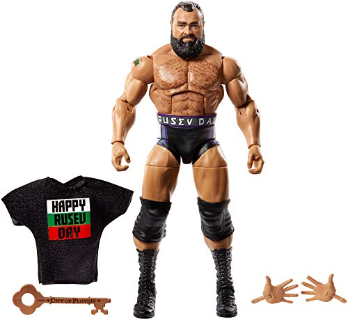 WWE Elite Figura de acción Luchador Rusev, Juguetes niños +8 años (Mattel GCL28)