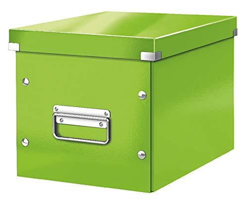 Leitz Click & Store Aufbewahrungs- und Transportbox Cube mittel, Grün, WOW, 61090054