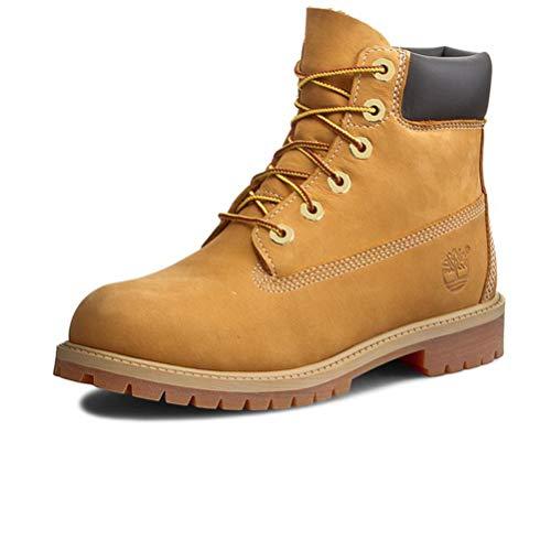 Timberland Jungen-Schuhe, 12809-12709-12909, Polnisch Boot aus Nubuk, Farbe: Honig, Gelb - Honiggelb - Größe: 39 EU
