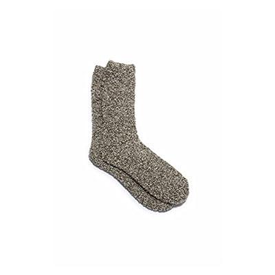 Barefoot Dreams Cozychic Socks Warm Gray/White One Size