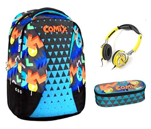 Comix. EXTREME ORGANIZADO MULTICOLOR + Estuche ovalado regalo auriculares estéreo