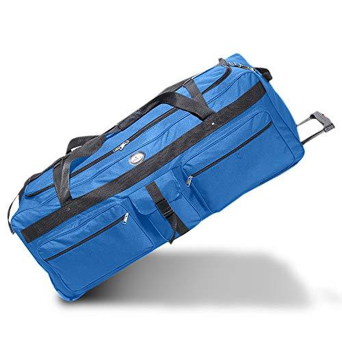 OVERSIZED Rolling Soft Trunk Duffel Bag 42', Everest - Ideal for Camp, Car & Bus Travel (Royal Blue)