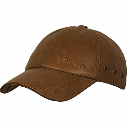 Australian Buffalo Leather Cap, Farbe:cognac;Größe:S/M