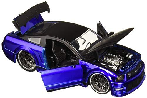 Jada 1: 24 W/B - Metals - Bigtime Muscle - 2006 Ford Mustang GT (Blue/Black Top) Diecast Vehicles