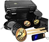 Stash Box Includes- 4 Part Grinder, USB Keychain Lighter,Jar, Metal Tray, 6pk Papers,2 Smell Proof bags, Combination Lock, Smell Proof Container Box
