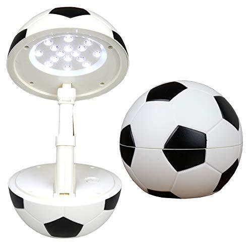 Lampe de Bureau LED sans fil, Happy Dream Lampe de chevet LED Veilleuse pour Enfant, Lampe de table pour lecture, sous design de Football, Puissance 5W, 4-11 heures d¡¯Autonomie, rechargeable par USB,