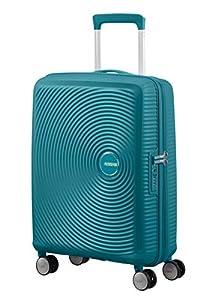 American Tourister Soundbox - Spinner Small Expandable Equipaje de Mano, 55 cm, 41 Liters, Verde (Jade Green)