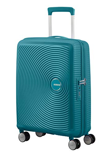 American Tourister Soundbox Spinner Small Expandable Bagaglio A Mano,Verde (Jade Green), Spinner S (55 cm - 41 L)