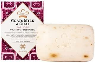 Nubian Heritage Bar Soap,Goat's Milk & Chai, 5 oz - Pack of 12