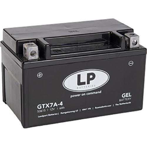 LANDPORT Gel Roller- u. Motorradbatterie GTX7A-4 (YTX7A-BS GEL) DIN 50615