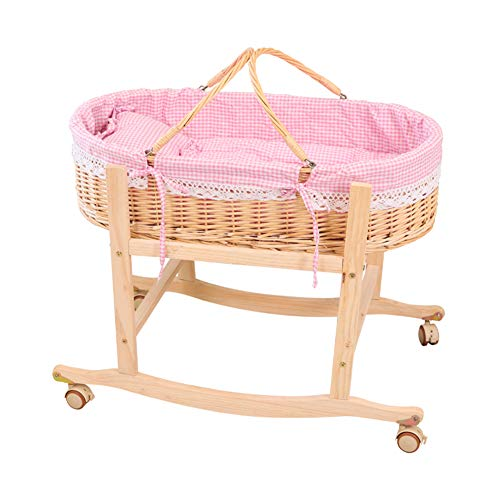 Great Deal! YXGH@ Baby Moses Basket Newborn Crib Baby Shopping Basket Baby Cradle Car Sleeping Basket Rattan Baby Cradle Bed