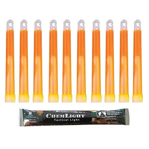 Cyalume Technologies Lichtstick, Militärqualität, 15 cm, ultrahohe Intensität, 5 Minuten, 10 Stück, SA9-1027022AM