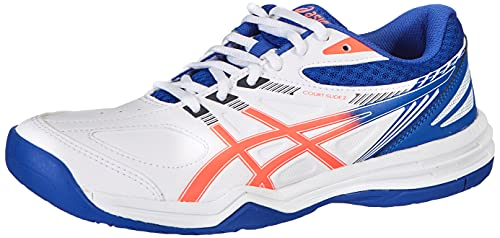 ASICS Court Slide 2, Zapatillas de Tenis Mujer, White Blazing Coral, 38 EU