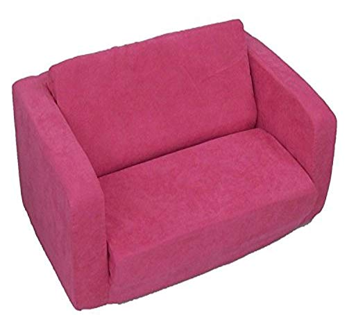 Fun Furnishings Toddler Flip Sofa, Hot Pink