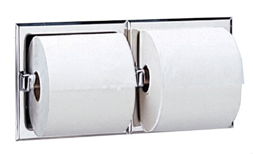 Bobrick Max 90% OFF 6977 Stainless Steel Recessed Dual Roll Toilet Tissue High order Di