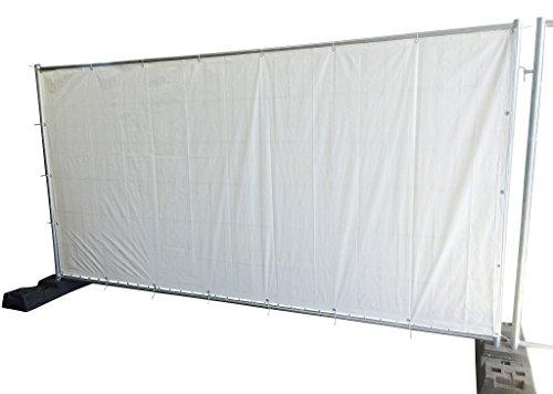 Bauzaunplane weiß - Abmessung: 3410 x 1760 mm (Fertigmaß) - 20 Stück